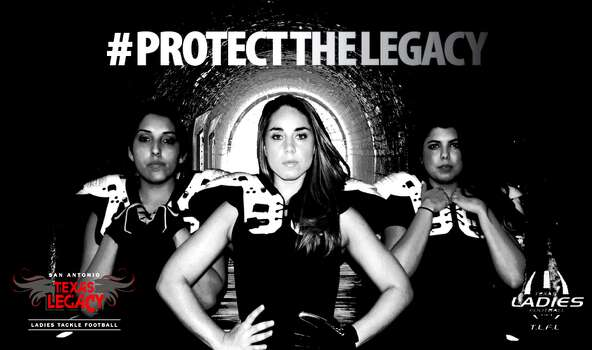 The San Antonio Texas Legacy, the city's all-female tackle football team. Photo: San Antonio Texas Legacy
