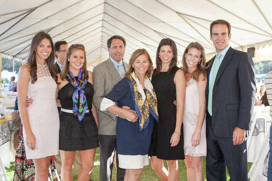 Kristen Hiller, Samantha Hiller, Jeffrey Hiller, Mary Hiller, Constance Hiller, MaryAnn Hiller and Greg Mason at the Menlo Charity Horse Show in Atherton on August 8, 2014. Photo: Drew Altizer Photography/SFWIRE, Drew Altizer Photography / © Drew Altizer Photography 2014
