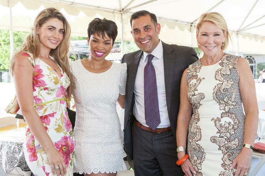 Ellian Raffoul, Moanalani Jeffrey, Bhuvan Sahney and Terri Tiffany at the Menlo Charity Horse Show in Atherton on August 8, 2014. Photo: Drew Altizer Photography/SFWIRE, Drew Altizer Photography / © Drew Altizer Photography 2014