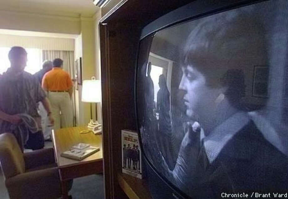 When the suite debuted in late August 1999, a retro TV showed images of a young Paul McCartney. Photo: Brant Ward, The Chronicle 1999