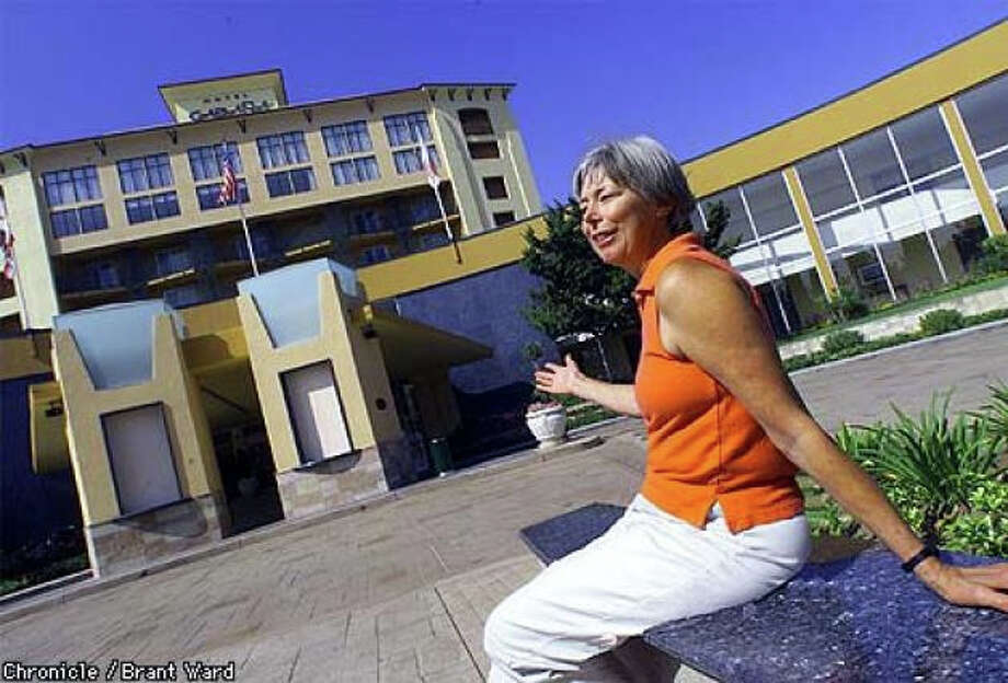 In 1999, Anita Gonzalez of San Leandro recalled talking her father into taking her out of Stanford Hospital  to drive by the Cabana Hotel for a possible glimpse of the Beatles in 1965. Photo: Brant Ward, The Chronicle 1999