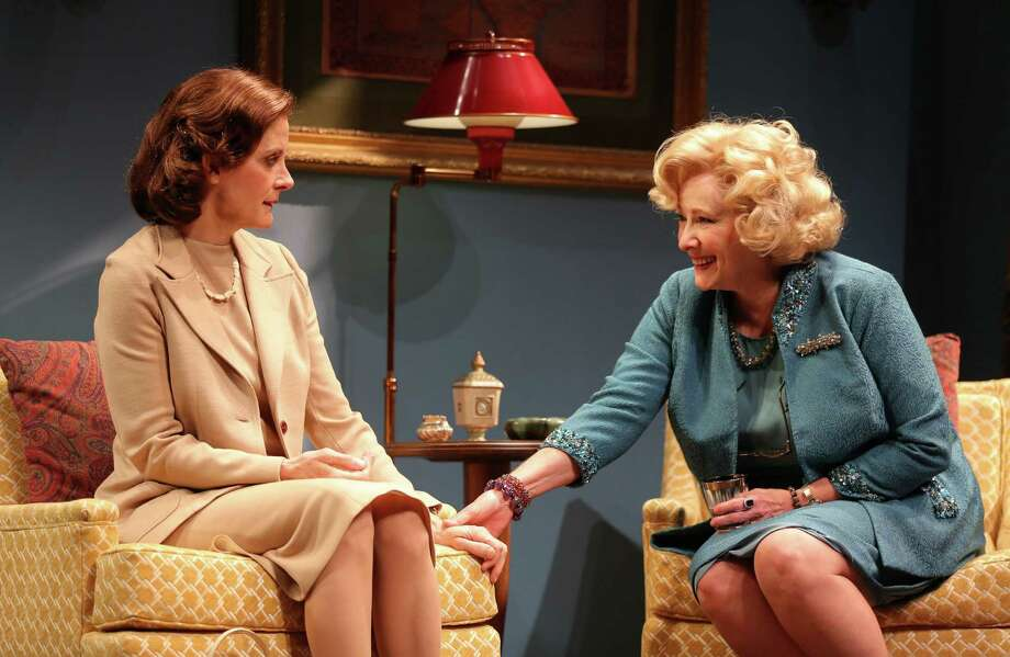 "Hallie Foote (left) and Betty Buckley star in the Alley Theatre's Houston premiere of Horton Foote's ""The Old Friends."" The Old Friends The Pershing Square Signature Center/Irene Diamond Stage  Cast List: Betty Buckley Veanne Cox Adam LeFevre Hallie Foote Sean Lyons Novella Nelson Melle Powers Cotter Smith Lois Smith Production Credits: Michael Wilson (Director) Jeff Cowie (Scenic Design) David C. Woolard (Costume Design) Rui Rita (Lighting Design) Other Credits: Written by: Horton Foote Photo: Joan Marcus / ONLINE_YES"