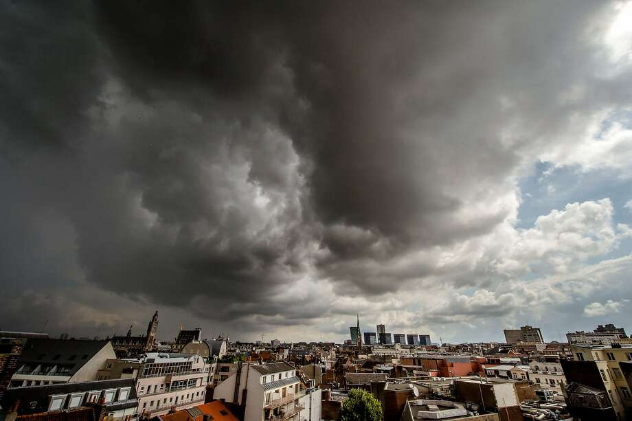 Lightning is bound to strike the town of Lille, France, any minute now. Photo: Philippe Huguen, AFP/Getty Images