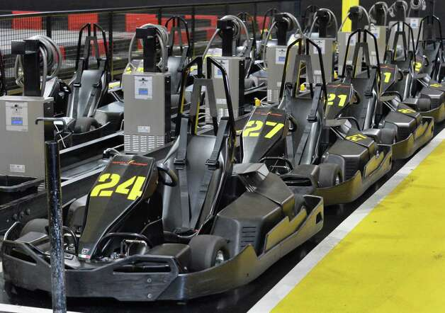 A line of OTL Storm go-carts at FasTrax Raceway in Crossgates Commons Tuesday July 29, 2014, in Albany, NY.  (John Carl D'Annibale / Times Union) Photo: John Carl D'Annibale / 00027899A