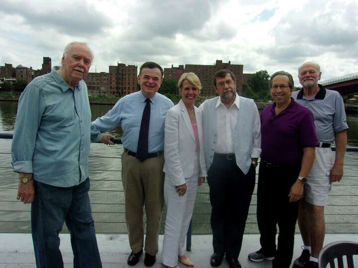 Rensselaer County Chamber President  Linda Hillman met with former WTRY staffers on Aug. 4 at The Ru