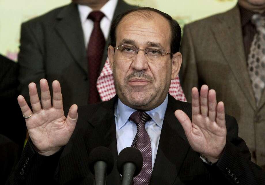Nouri al-Maliki has agreed to step down as prime minister of Iraq in favor of Haider al-Abadi. Photo: Hadi Mizban, Associated Press