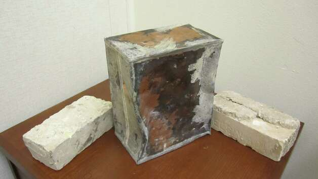 A 10x8x5-inch copper time capsule was discovered by demolition crews in June in Taylor, Texas. The capsule, which was about 10 pounds, was placed inside the city hall's cornerstone in 1935. Photo: Courtesy, C