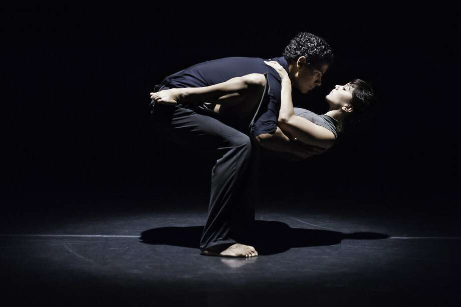 "Joseph Hernandez and Natasha Adorlee Johnson in Kate Weare's ""Drop Down"" as part of the Music Moves Festival at ODC Theater in San Francisco. Photo: Courtesy Of Keira Heu-Jwyn Chang"