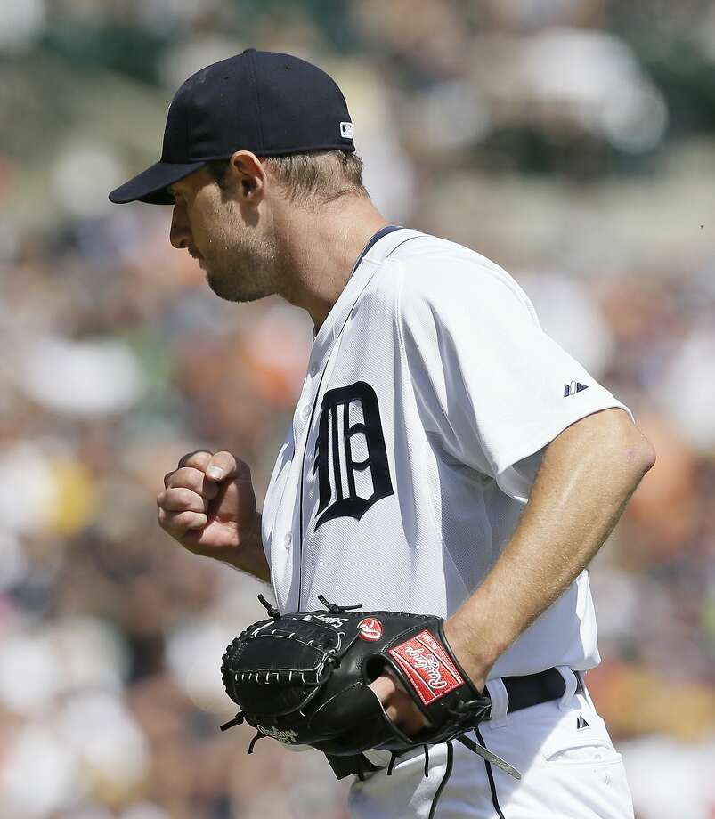 Max Scherzer struck out 14 batters in eight shutout innings to lead the Tigers to a 5-2 victory over the Pirates in Detroit on Thursday Photo: Carlos Osorio, Associated Press