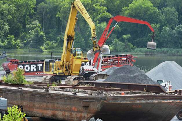 Construction work is visible at the Port of Coeymans Thursday, Aug. 14, 2014, in Coeymans, N.Y.  (John Carl D'Annibale / Times Union) Photo: John Carl D'Annibale / 00028173A