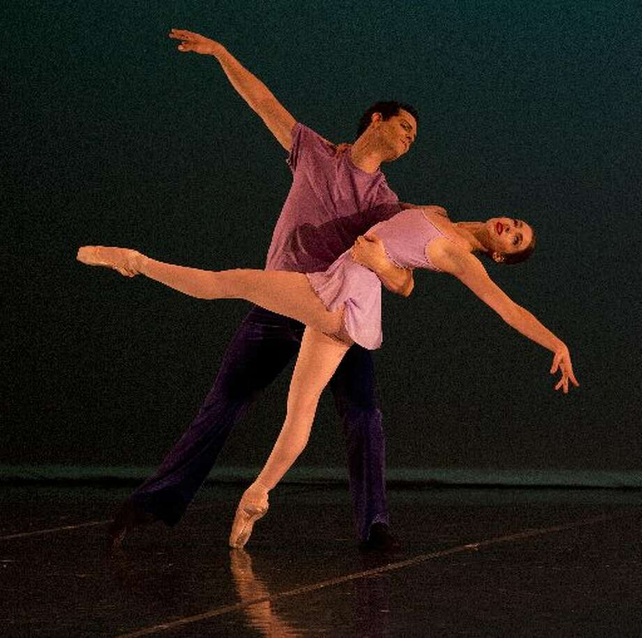 "Ballet San Antonio soloists Sally Turkel and Yosvani Cortellan rehearsing ""Valsa de San Valentino."" Photo: Courtesy Photo"