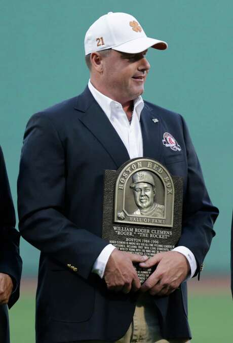 Roger Clemens and three others joined the Red Sox Hall of Fame on Thursday. Photo: Charles Krupa, STF / AP