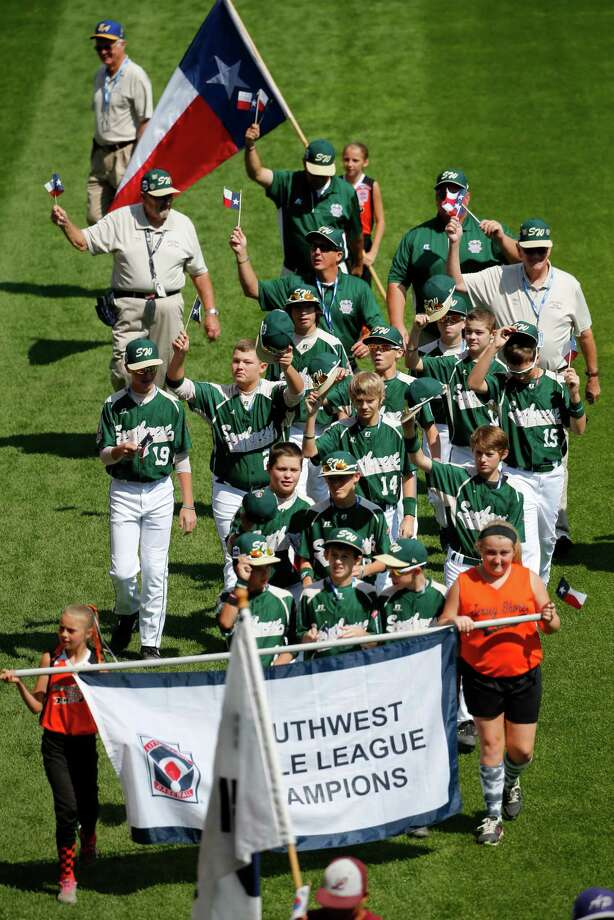 The Pearland East Little League baseball team from Pearland, Texas participates in the opening ceremony of the 2014 Little League World Series tournament in South Williamsport, Pa., Thursday, Aug. 14, 2014. (AP Photo/Gene J. Puskar) Photo: Gene Puskar, Associated Press / AP