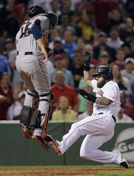 August 14: Red Sox 9, Astros 4  Jason Castro and the Astros let an early lead slip away to Mike Napoli & Co.  in the series opener in Boston.  Record: 50-72. Photo: Charles Krupa, Associated Press