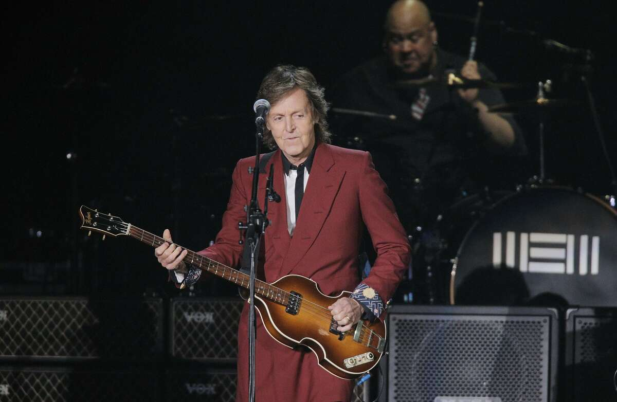 Paul McCartney plays a farewell Candlestick Park show to a sold out crowd on Thursday Aug. 14, 2014 in San Francisco, Calif.
