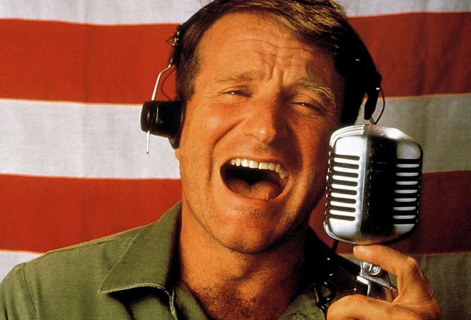 """Good Morning, Vietnam,"" starring Robin Williams, will be shown at 2 p.m. at the Westport Library. Two more movies starring the late comedian/actor will be shown at the library this weekend in its Robin Williams Film Festival. Photo: Contributed Photo / Westport News"