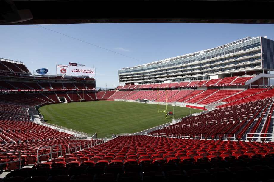 Levi's Stadium is ready for its 49ers close-up a few weeks after hosting its first official sports event, a San Jose Earthquakes game.   Peyton Manning and the Denver Broncos roll into town to christen the new stadium against the 49ers. Photo: Michael Short, The Chronicle