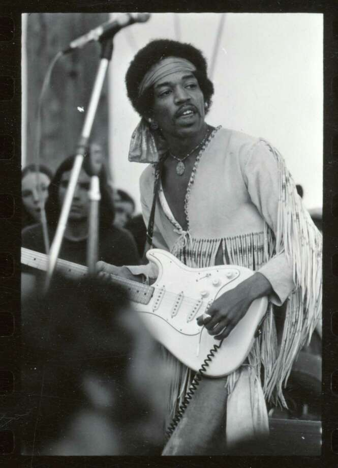 Jimi Hendrix performs at the Woodstock Music Festival in Bethel, N.Y., Aug. 18, 1969. (Larry C. Morris/The New York Times) Photo: LARRY C MORRIS, NYT / NYTNS