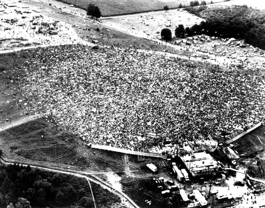 An Aug.16,1969 photo shows part of the crowd which converged on Bethel, N.Y. for the Woostock Rock Music Festival. More than 200,000 were estimated to have attended the event.(AP photo/NY Post) Photo: Ap, Associated Press / NY POST