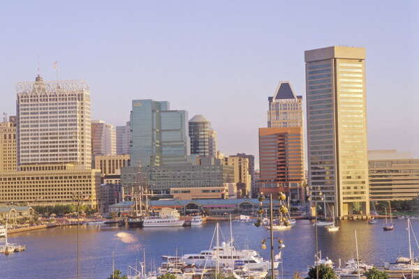 Skyline and Harbor of Baltimore, Maryland