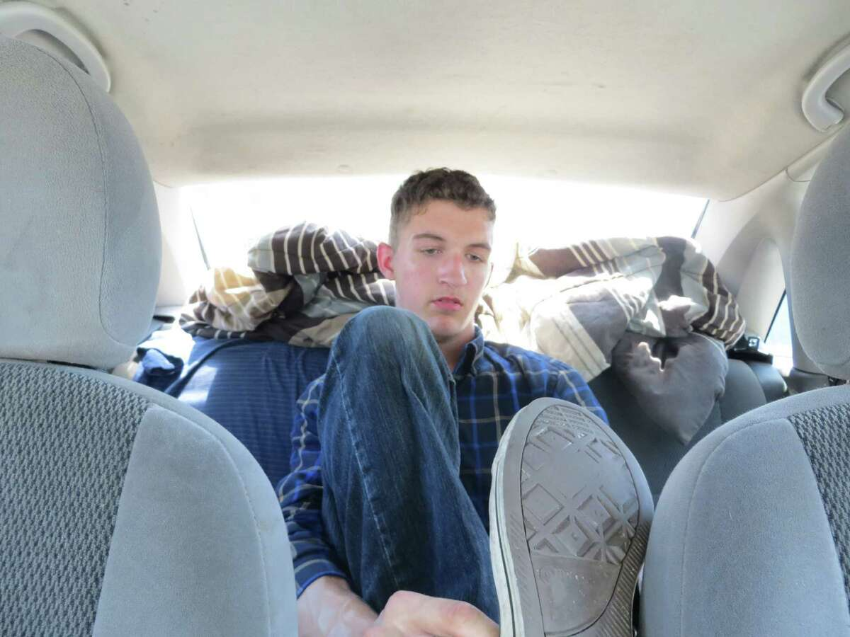 Colin Ashby, 20, lived in his car during his freshman year at Texas State University
