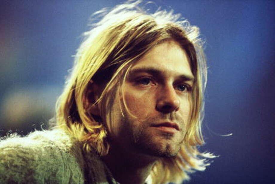 1994: Kurt Cobain, American rock singer (Nirvana), shotgun wound to the head. Photo: Frank Micelotta, Getty Images / Hulton Archive