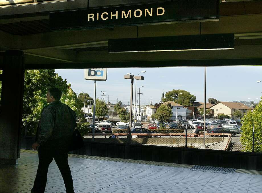 Richmond BART will be affected by Arnold Schwarzenegger budget cuts they will not expand the parking. Kurt Rogers/The Chronicle Ran on: 12-26-2007 The Richmond Station had 26 auto thefts, the highest number recorded during the three months. Photo: Kurt Rogers, The Chronicle