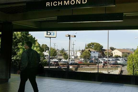 Richmond BART will be affected by Arnold Schwarzenegger budget cuts they will not expand the parking. Kurt Rogers/The Chronicle Ran on: 12-26-2007 The Richmond Station had 26 auto thefts, the highest number recorded during the three months.