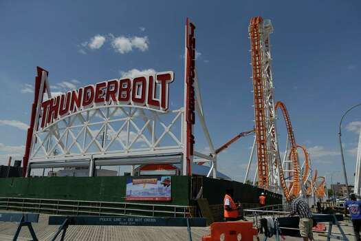 If you're in a New York state of mind, take a ride on the Thunderbolt, a new roller coaster on the Coney Island boardwalk. Photo: Frank Franklin II, Associated Press / AP