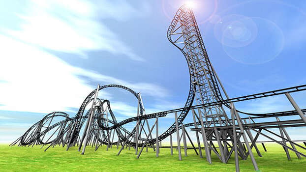 This rendering shows the Takabisha roller coaster at Fuji-Q Highland Amusement Park in Japan. The ride boasts the world's steepest drop. Photo: Promotional Image