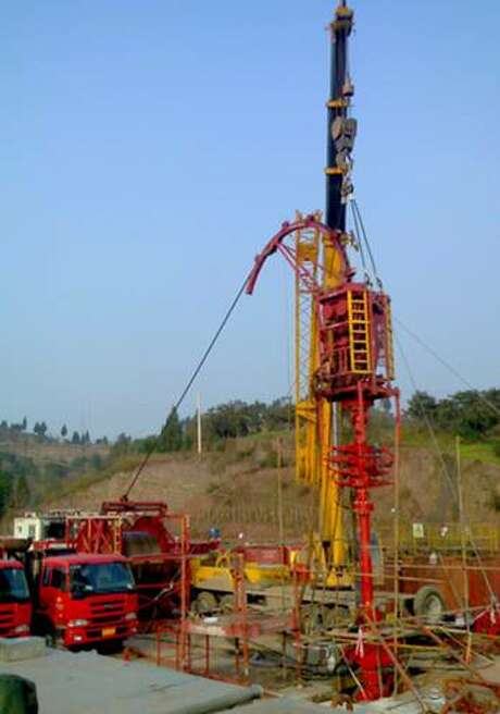 Halliburton's Chinese operations include this one with PetroChina, using multistage hydraulic fracturing and horizontal wells in Chongqing Province near the nation's largest city. (Halliburton photo.) Photo: Halliburton