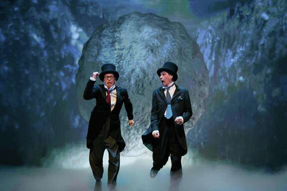 "Bill Irwin, left, and David Shiner in ""Old Hats"""