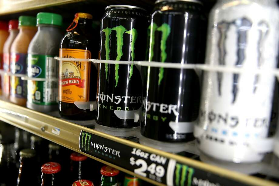 Monster energy drinks, like these displayed in Kentfield, might boost Coca-Cola's bottom line. Photo: Justin Sullivan, Getty Images