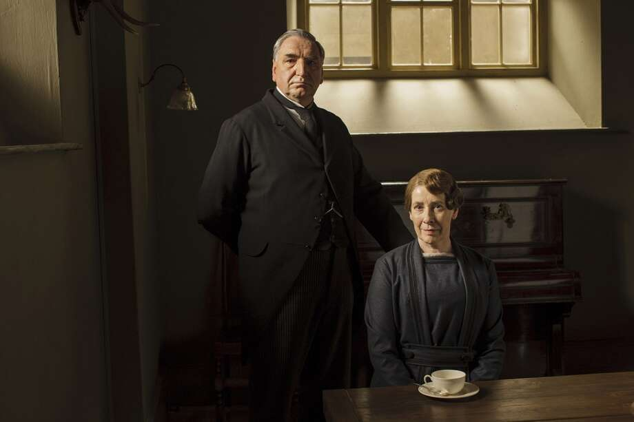 Best couple on Downton Abbey? Definitely Carson and Mrs. Hughes. Photo: Nick Briggs/Carnival Films 2014 For MASTERPIECE