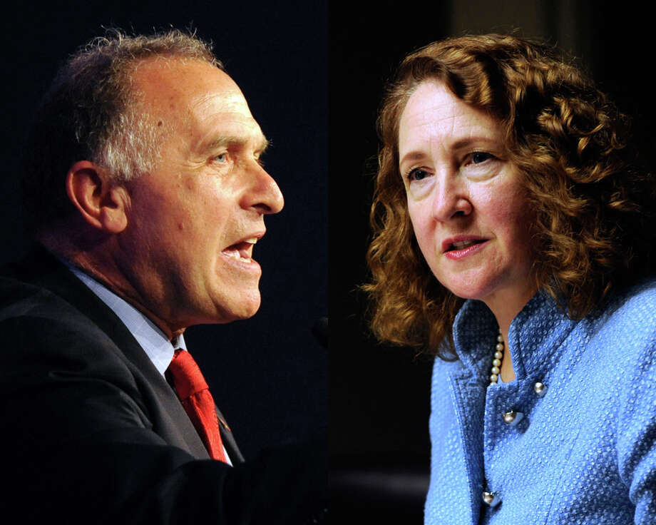 Mark Greenberg and Elizabeth Esty composite for print promo. Photo: File Photo / The News-Times File Photo