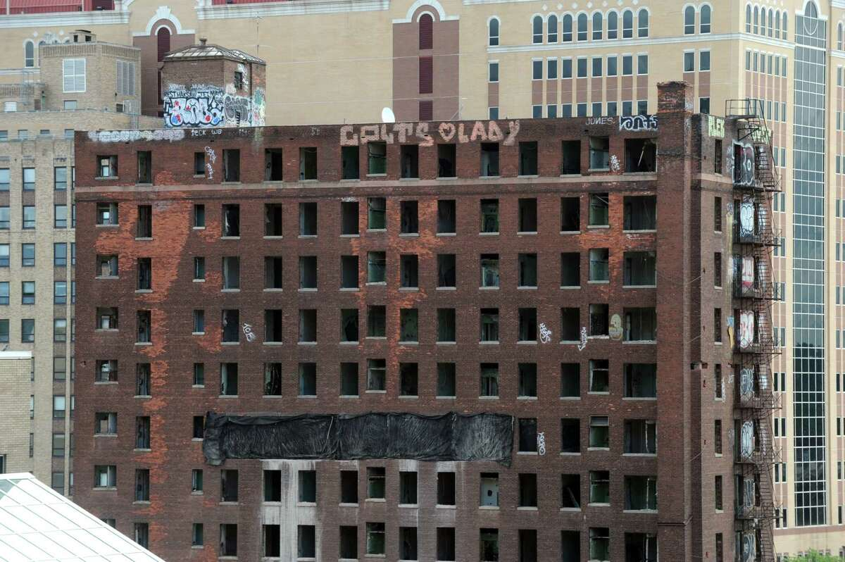 The Wellington Annex on the site of Albany's future convention center at Howard and Eagle Streets on Friday Aug. 15, 2014, in Albany, N.Y. (Michael P. Farrell/Times Union)