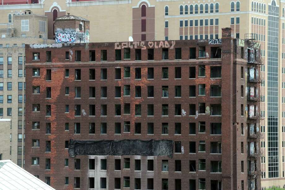 The Wellington Annex on the site of Albany's future convention center at Howard and Eagle Streets on Friday Aug. 15, 2014, in Albany, N.Y. (Michael P. Farrell/Times Union) Photo: Michael P. Farrell / 00028198A
