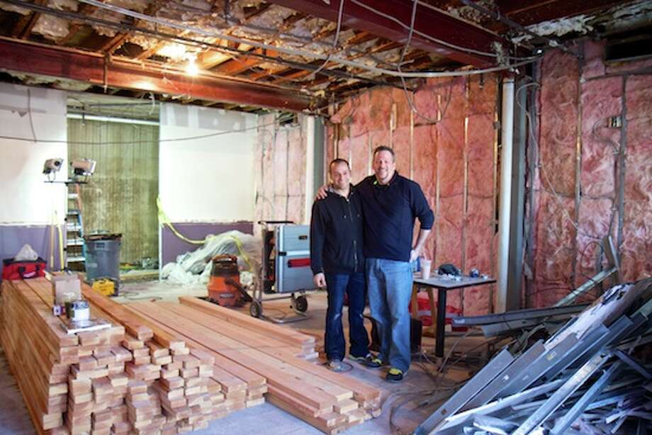 Chef Taibe and General Manager Massimo Tulio stand in the space that will soon house Kawa Ni. Photo: 2471202198