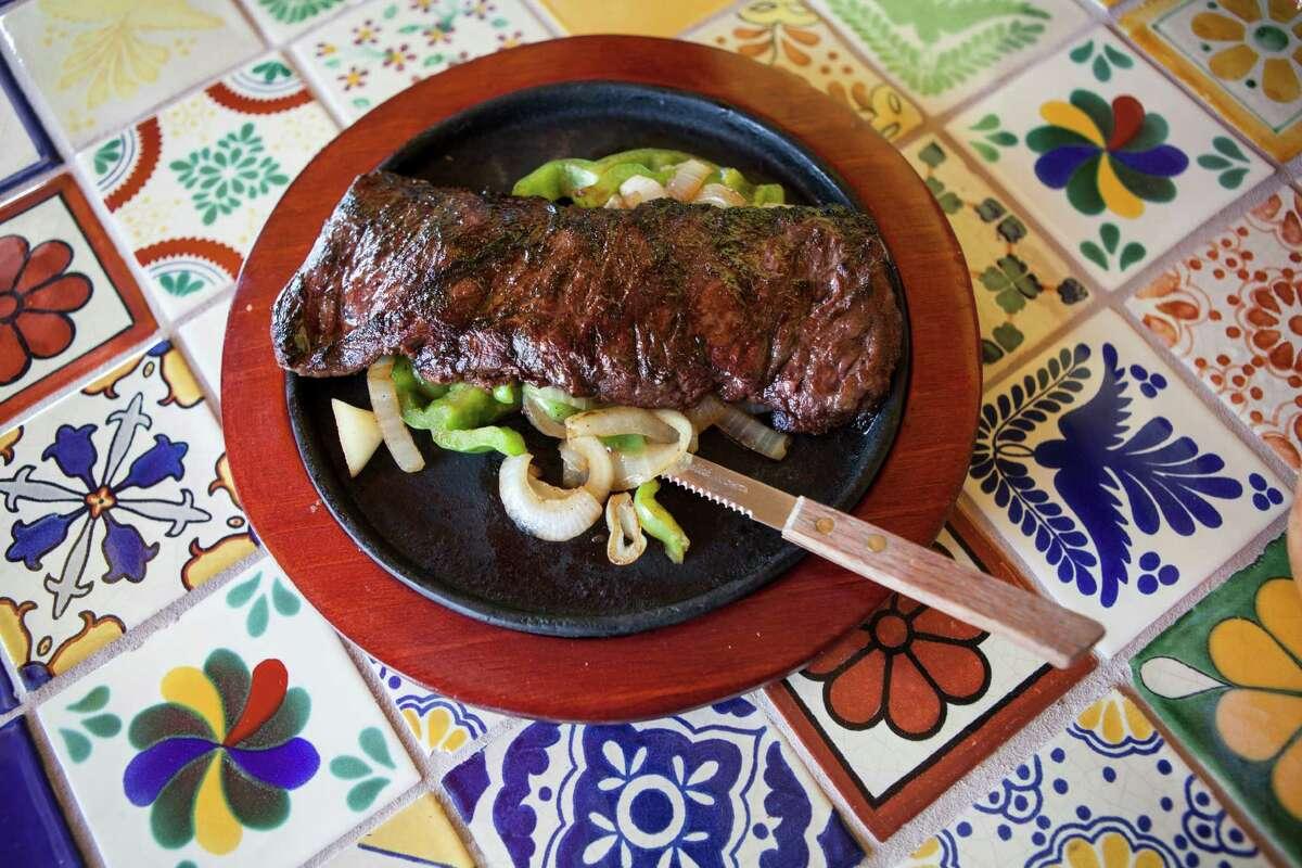 Tampiquena, a house specialty made with beef fajita steak atSylvia's.