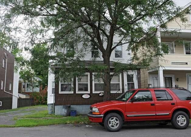 House at 2239 14th St. on Wednesday, Aug. 15, 2014 in Troy, N.Y. This is one of 25 properties Columbia Development is going to buy on the edge of RPI's campus and they plan to ask for IDA tax breaks.  (Lori Van Buren / Times Union) Photo: Lori Van Buren / 00028206A