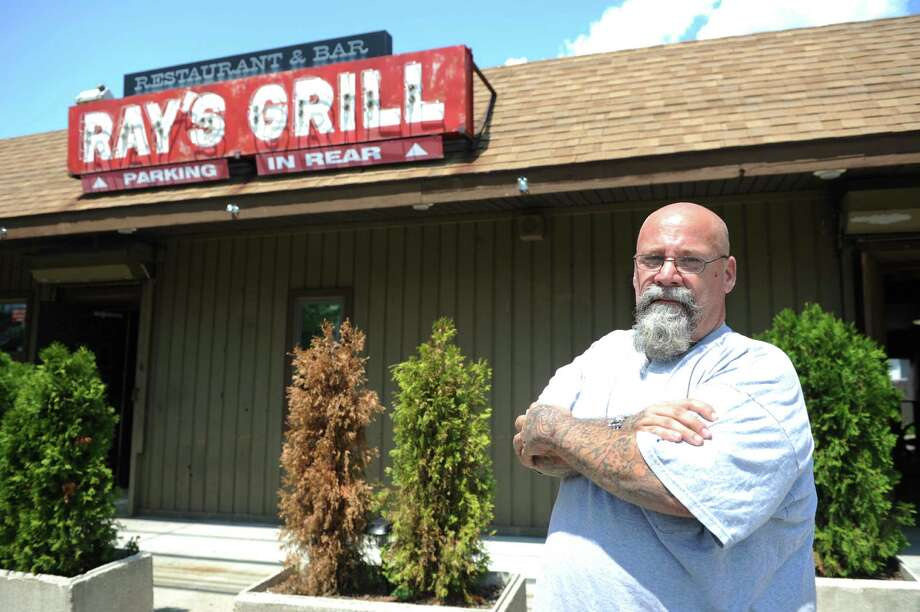 Steve Matyasovszky stands in front RayâÄôs Grill, a long-standing restaurant and bar on Barnum Avenue that he recently purchased. Major renovations are now underway. Photo: Autumn Driscoll / Connecticut Post