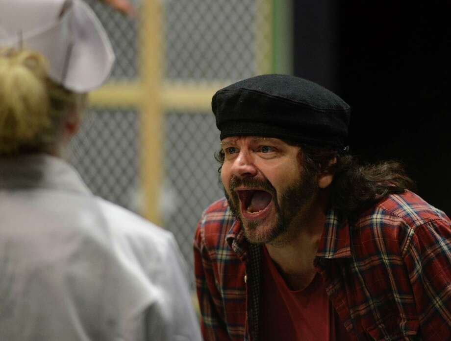 """Ken Frazier rehearses in """"One Flew Over the Cuckoo's Nest."""" at the Sheldon Vexler Theatre on Aug. 7, 2014. Photo: Billy Calzada, San Antonio Express-News / San Antonio Express-News"""