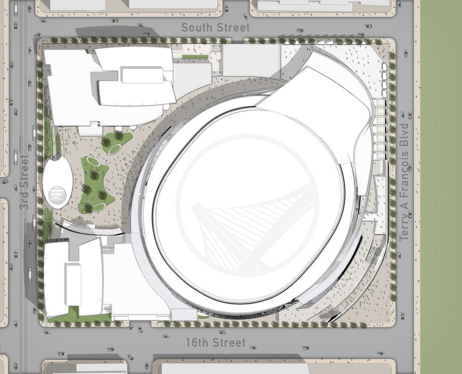 The Golden State Warriors' proposed arena looks like a toilet, some say. Photo: Warriors' Design Team / Warriors' Design Team / ONLINE_YES