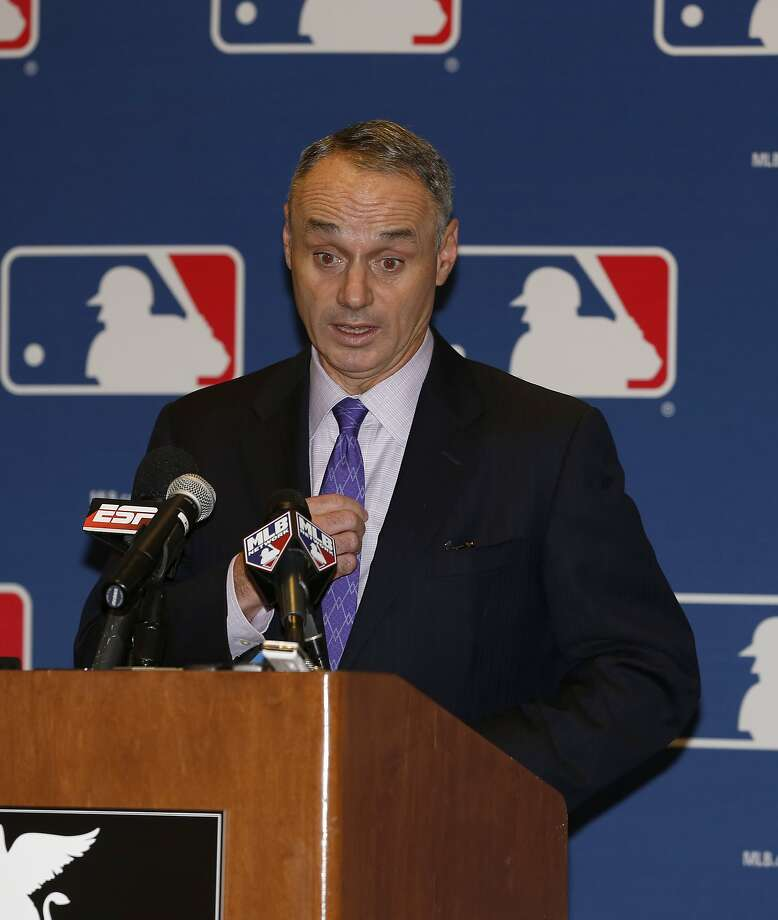 Rob Manfred was the only legitimate commissioner candidate of the three. Photo: Reinhold Matay, Associated Press