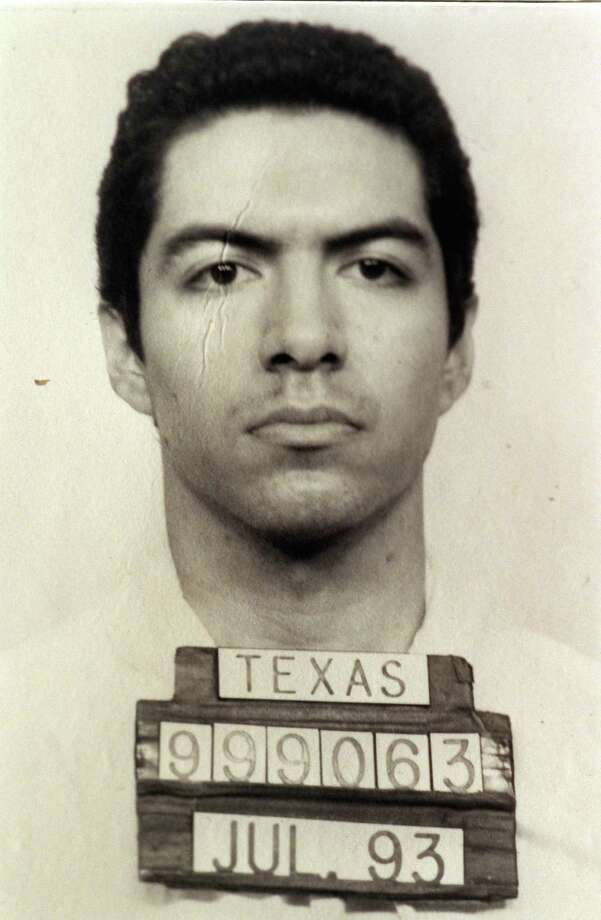 Copy shot of police mug of Martin Gurule. FILE--Death Row inmate Martin Gurule, shown in this 1993 Texas Department of Criminal Justice handout photo, escaped from the Ellis Unit , near Huntsville, Texas, early Friday, Nov. 27, 1998, and remains at large Monday, Nov. 30. HOUCHRON CAPTION (11/28/1998): Martin Gurule, 29, escaped from death row Friday. HOUCHRON CAPTION (11/30/1998) (12/01/1998): Gurule Photo: Smiley N. Pool, Texas Department Of Criminal Justice / Handout