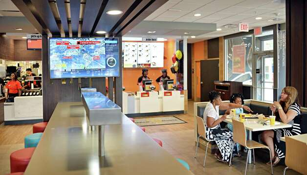 Interior of the newly re-opened Wolf Road McDonald's Friday August 15, 2014, in Colonie, NY.  (John Carl D'Annibale / Times Union) Photo: John Carl D'Annibale / 00028126A