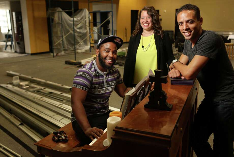 Anthony Rogers, Kaitlyn Bowie and Terence Hagans are among the leaders of the ministry The Source. Photo: Mayra Beltran, Staff / © 2014 Houston Chronicle