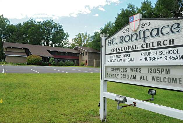 Exterior of St. Boniface Episcopal Church at 5148 Western Ave. on Thursday, Aug. 14, 2014 in Guilderland, N.Y. The church will break ground on a project to place a 30-foot steel cross in front of the building and install a lift to allow church members that use wheelchairs or walkers to reach all three levels of the building. (Lori Van Buren / Times Union) Photo: Lori Van Buren / 00028183A