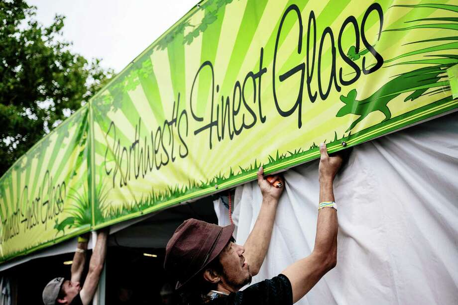 Retailers open up for business on the first of three days of Hempfest, Seattle's annual gathering to advocate the decriminalization of marijuana Friday, August 15, 2014, at Myrtle Edwards Park on the Seattle waterfront in Seattle, Washington. The three-day annual political rally, concert, and arts and crafts fair continues through Sunday. Photo: JORDAN STEAD, SEATTLEPI.COM / SEATTLEPI.COM