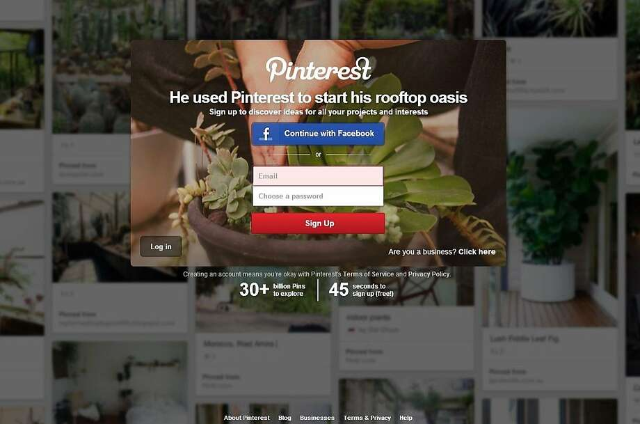 Pinterest, with a user base that is 80 percent female, has ramped up efforts to market directly to potential male users. New users who visit Pinterest are greeted with several images highlighting male users. Photo: Brown, Kristen